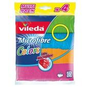 Vileda chiffon microfibres multicolor 4 pcs