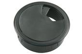 Starx bureaudop 60 mm kunststof zwart