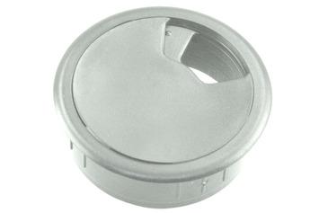 Starx bureaudop 60 mm kunststof grijs