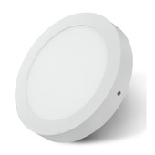 Plafonnier LED integré Prolight rond 12 W 750 lumens blanc