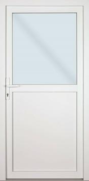 Solid buitendeur Esterno PVC E01 halfglas wit links 98X218 cm