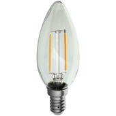Handson LED kaarslamp met filament E14 2,3W = 25W 250 lumen