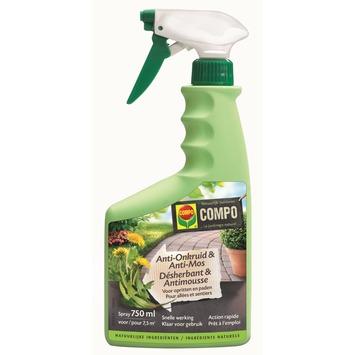 Compo natuurlijke onkruid- en mosbestrijder voor opritten en paden 750 ml