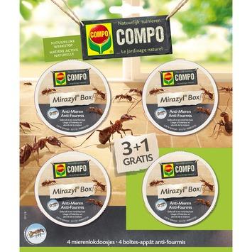 Compo Bio mirazyl box natuurlijke mierenlokdoosjes 3 + 1 stuks gratis
