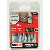 Molly Piranha hollewand plug met schroef M16206-XJ 13x75 mm