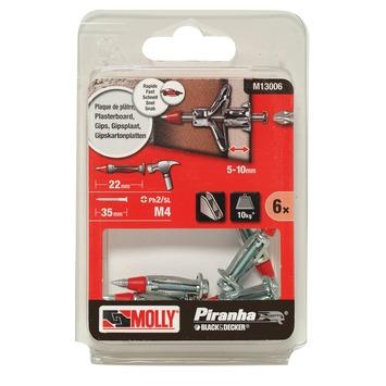 Molly Piranha hamerplug voor hollewand M13006-XJ 8x22 mm metaal