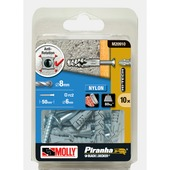 Molly Piranha hi tech nylon plug met schroef M20910-XJ 8x40 mm