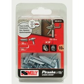 Molly Piranha hollewand plug zonder voorboren met schroef X3 M53010-XJ 4,5x35 mm metaal