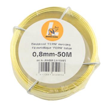 QX-draad nr. 3 0,8 mm 50 meter messing