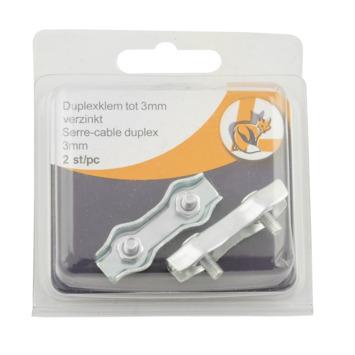 Kabelklem Duplex 3 mm 2 stuks