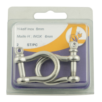 Harpsluiting 6 mm inox 2 stuks