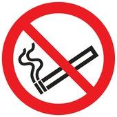 Pickup pictogram verboden te roken ø 18 cm