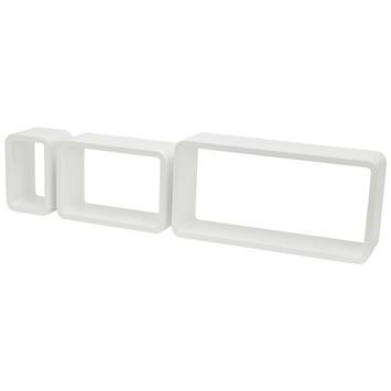 Jeu de cubes angles arrondis Duraline 3TC 17-38,5-60 cm blanc