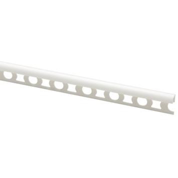 Profilé carrelage synthétique 8x25,3 mm 260 cm blanc