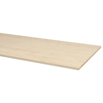 Panneau de meuble CanDo pefc avec couvre-chant sur 2 longs côtés 18 mm 250x60 cm érable naturel