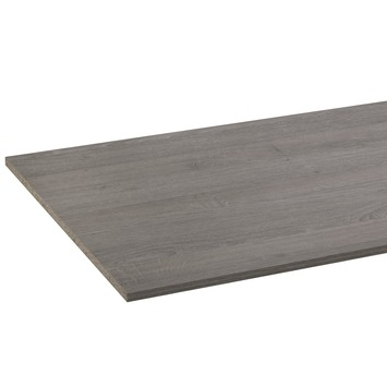Panneau de meuble CanDo pefc avec couvre-chant sur 2 longs côtés 18 mm 250x60 cm  chêne grisonné