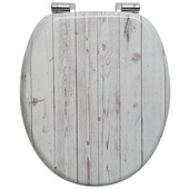 Handson Antero wc bril met softclose steigerhout mdf