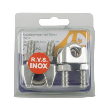 Kabelklem 10 mm inox 2 stuks