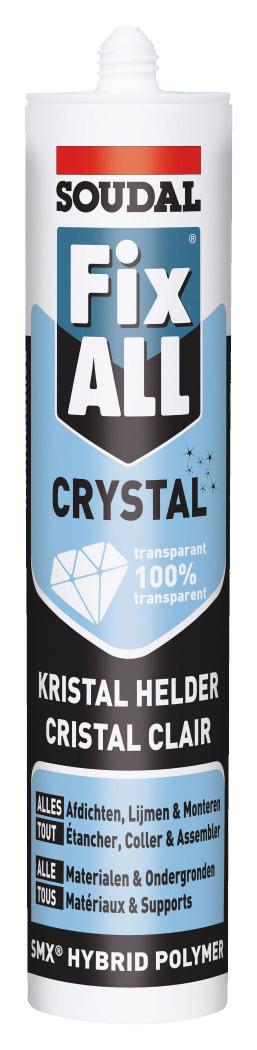 fix all crystal soudal transparent 290 ml colle de. Black Bedroom Furniture Sets. Home Design Ideas