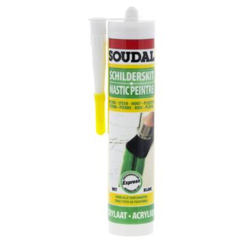 Mastic acrylique express Soudal blanc 300 ml