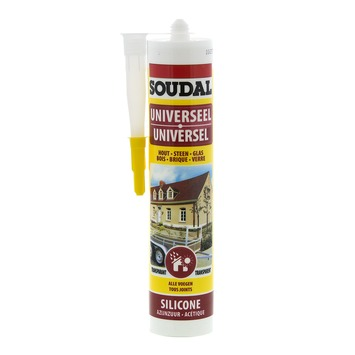 Soudal siliconenkit universeel transparant 300 ml