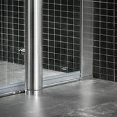 Jeu de montage au sol Boston Tiger pour cabine de douche en quart de rond 100x100 cm chromé