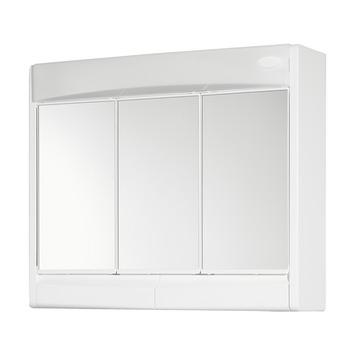 Armoire à miroir Saphir 3 portes  avec éclairage et prise