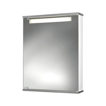 Armoire à miroir Cento MDF 1 porte avec éclairage et prise