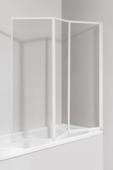 Lafiness Aqua3 badwand 140x140 cm, 3 mm veiligheidsglas gelijnd wit