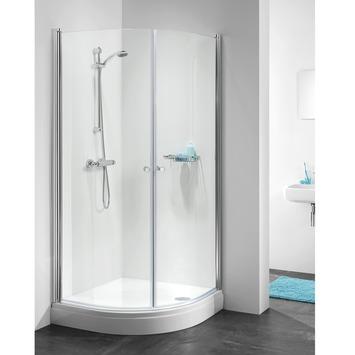 cabine de douche quart de rond 90x195 cm getwet c105 verre transparent et profil chrom. Black Bedroom Furniture Sets. Home Design Ideas