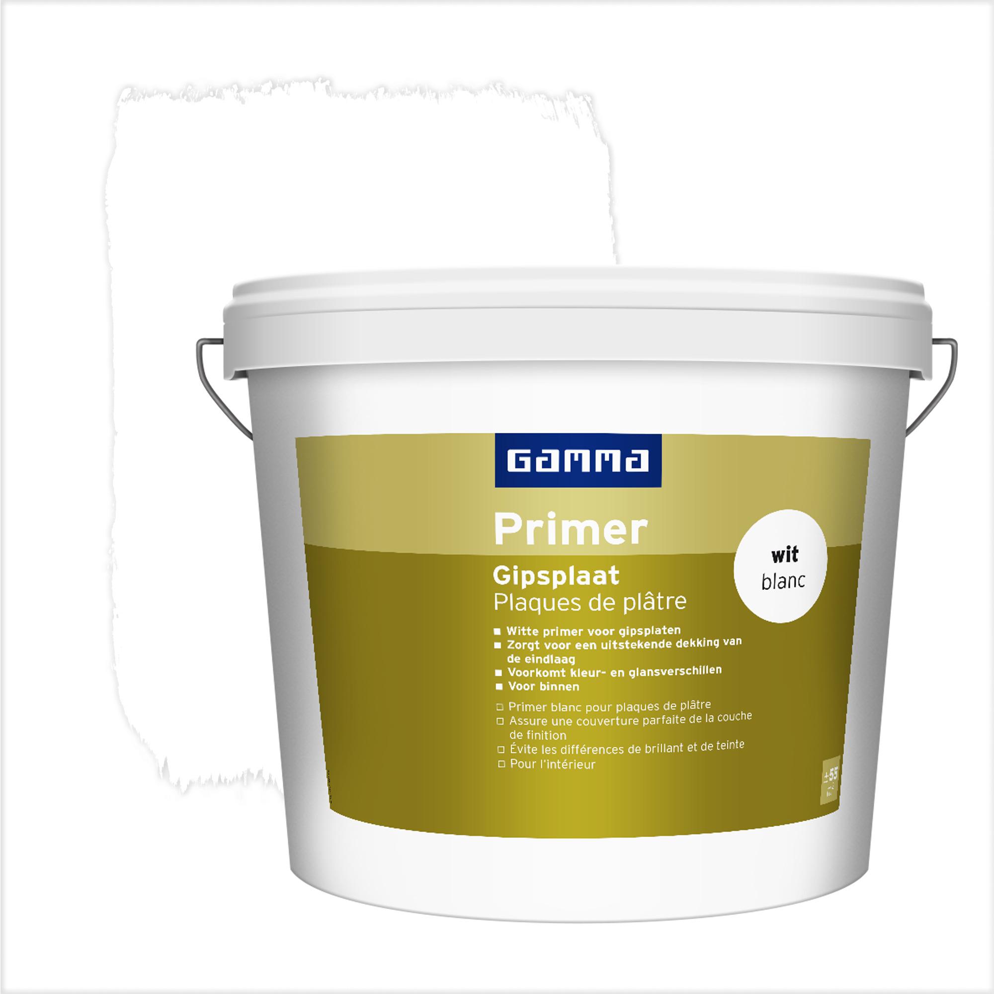 Primer pour plaques de pl tre gamma blanc 5 l primers for Peinture plaque de platre