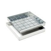 Couvercle à paver en aluminium 60 x 60 cm hauteur 80 mm