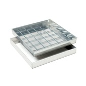 Regard à paver aluminium 40x40 cm 80 mm