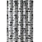 Rideau de douche Circle Gamma polyester 180x200 cm noir/vert