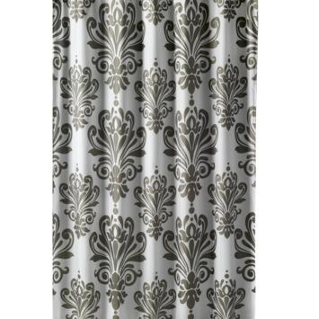 Rideau de douche Baroque GAMMA polyester 180x200 cm blanc/gris