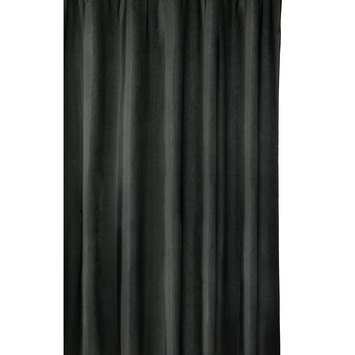 Gamma Milan douchegordijn 180x200 cm textiel zwart