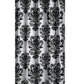 Rideau de douche Baroque GAMMA polyester 180x200 cm blanc/noir