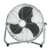 Ventilateur sur pied 30cm chromé