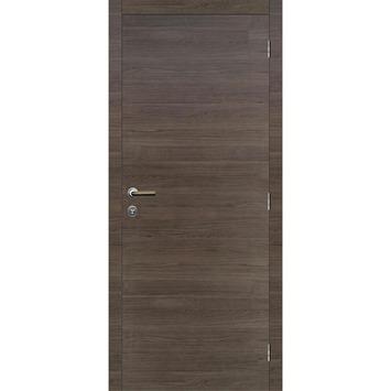 Binnendeurblad Senza horizontaal antraciet eik 201,5x78 cm laminaat