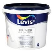 Couche de fond pour mur et plafond Levis mat blanc 10 L