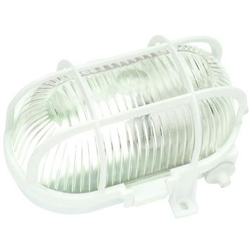 Hublot ovale en synthétique Handson max 60 W,aux projections d'eau blanc