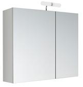 Armoire à miroir Kle'O Allibert 2 portes avec éclairage