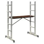 Stellingladder Combi + 2x6 treden 120x140 cm