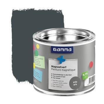 GAMMA magneetverf mat donkergrijs 500 ml