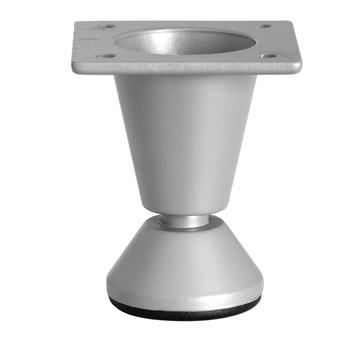 Pied de meuble 50 mm gris argenté
