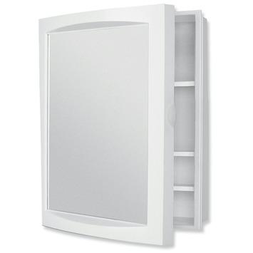 Allibert Aida apotheekkast 1 deur wit met spiegel