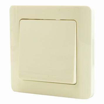 Profile schakelaar enkelpolig + afdekplaat enkelvoudig cream
