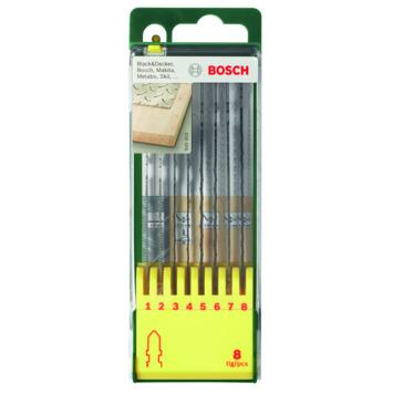 Bosch zaagbladenset hout/metaal 8-delig
