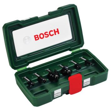 Jeu de fraises à bois HM Bosch ø 8 mm 6 pièces