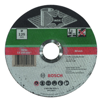 Meule à tronçonner droite Bosch 125x1,6 mm inox